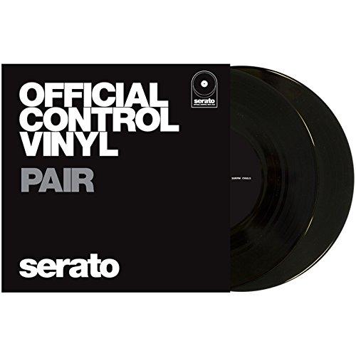 Serato Control Vinyl - Coppia di adesivi in vinile, 25,4 cm, colore: Nero