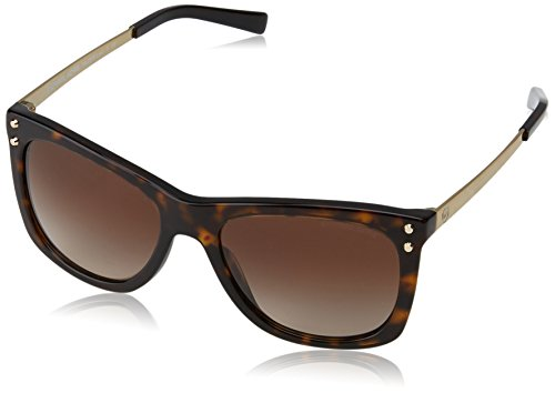 Michael Kors Damen LEX 310613 54 Sonnenbrille, Dk Tortoise/Browngradient,