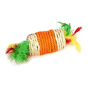 Cat Kicker Toy Sisal Corde Interactive Toy Vocal résistant aux Rayures 1pc