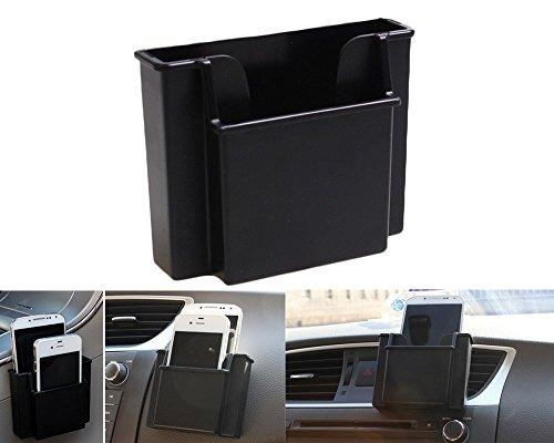 Chytaii Boite de Rangement Voiture Support de Téléphone Plastiques Organiser Téléphone Mobiles /Cartes /Stylos (Noir) (Noir)