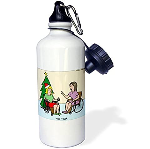 Statuear Wheelchair Christmas Tree Aluminum 20 Ounce 600ML Sports Water Bottle Gift