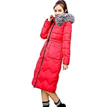 d045f8f32 Cálido Abrigo Largo para Mujer Damas Gruesas Abrigo De Ropa Invierno  Chaqueta De Pluma Acolchada Piel
