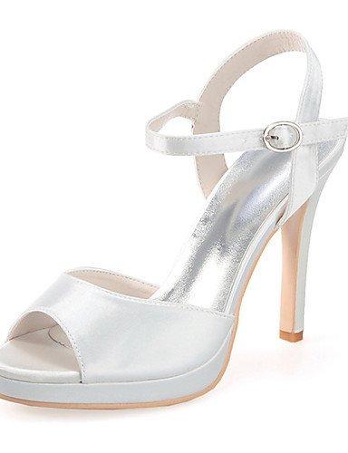 ShangYi Schuh Damen - Hochzeitsschuhe - Vorne offener Schuh - Sandalen - Hochzeit / Party & Festivität -Schwarz / Blau / Rosa / Lila / Rot / Elfenbein champagne