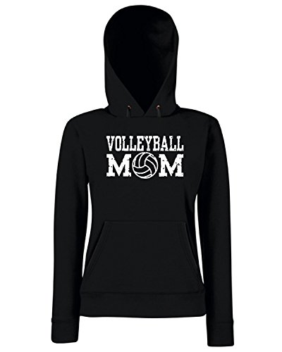 T-Shirtshock - Sweats a capuche Femme OLDENG00717 volleyball mom Noir