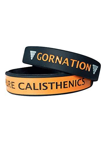 Gornation® Pure Calisthenics Armbänder Armband 4er Pack Orange für Bodyweight Fitness und Street Workout