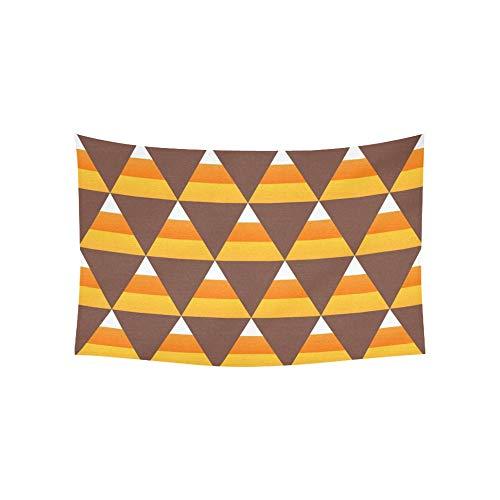 JOCHUAN Tapisserie Halloween Candy Corn Tapisserien Wandbehang Blume Psychedelic Tapisserie Wandbehang Indian Dorm Decor Für Wohnzimmer Schlafzimmer 60 X 40 Zoll -