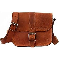 L'ESSENTIEL petit sac bandoulière en cuir couleur naturel PAUL MARIUS
