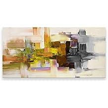 pintura al oleo moderna abstracto arte en canvas pintado a mano decoración de la pared - Black Strokes