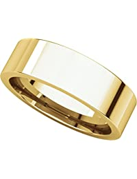 14ct Yellow Gold, Flat Comfort Fit Wedding Band 6MM (sz H to Z5)
