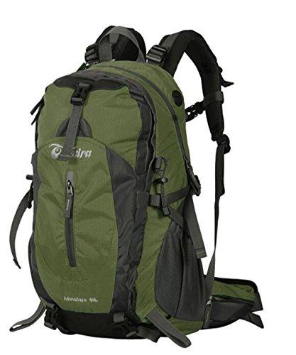 Outdoor-Klettern Tasche Männer und Frauen reisen Rucksack Camping mit regen Abdeckung 40L 50L Armeegrün
