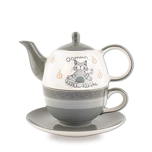 Mila Keramik Tee-Set: Tea for One, Oommh Katze Pure | MI-99402 | 4045303994027