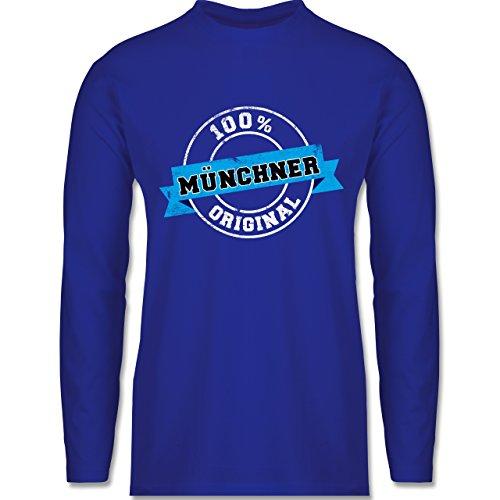 Shirtracer Städte - Münchner Original - Herren Langarmshirt Royalblau