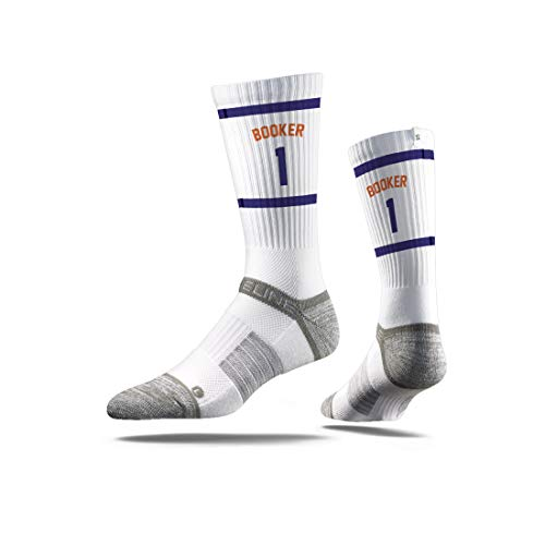 Strideline NBA Phoenix Suns Devin Booker Jersey Premium Athletic Crew Socks, Schwarz, Einheitsgröße
