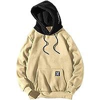 ZAFUL Uomo Felpa Patchwork Hoodie Abbigliamento Sportivo a Manica Lunga  Streetwear Tops 180c0670290a