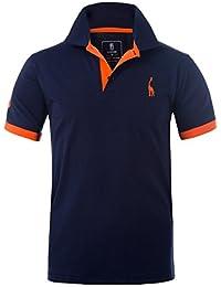 Glestore Herren Poloshirt Einfarbig Basic Kurzarm Polohemd M - XXL
