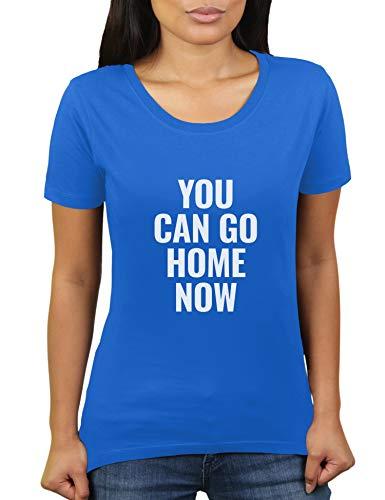You Can Go Home Now - Large - Damen T-Shirt von KaterLikoli, Gr. 3XL, Royal Blue
