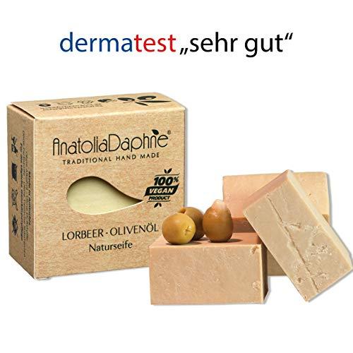 """Anatolia Daphne Lorbeer-Olivenöl Seife Derma-Test""""sehr gut"""" - handgesiedet 1er Pack (1x140g)"""