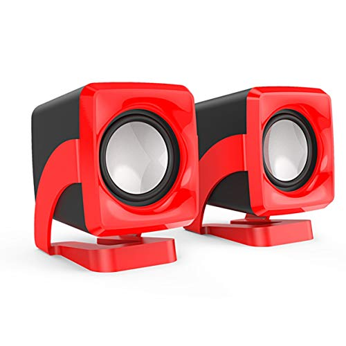 Monllack C1 Mini-Lautsprecher 3,5 mm Kabelgebundene Desktop-Laptop-Lautsprecher Multimedia-USB-Computerlautsprecher Super Bass Music Player Multimedia-volume-control