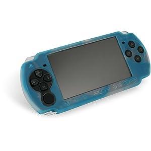 PSP Slim & Lite – Silicon Skin, weiß / blau