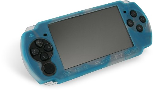 PSP Slim & Lite - Silicon Skin, weiß / blau