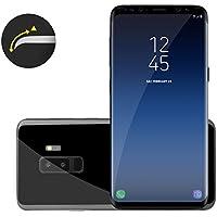 Samsung Galaxy S9+ 3D Panzerglas in schwarz LIAMOO® / Schutzglas für Hüllen geeignet / klares dünnes Glas / Displayschutzfolie / Panzerglasfolie