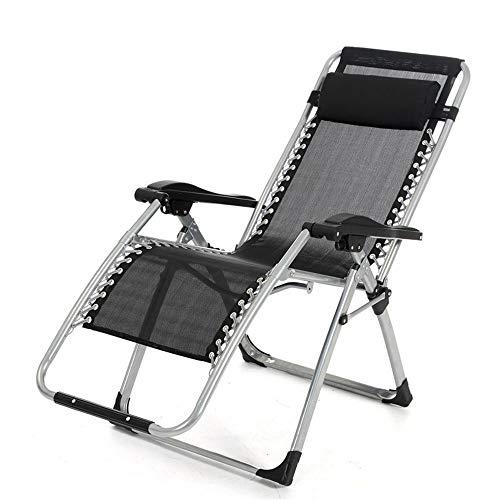 Verstellbares Textilene-Gewebe Klappbarer Stuhl Zero Schwerkraft-Stuhl, der Patio-Lounge-Liegen verriegelt Liegestuhl für Strand-Pool-Seite Yard im Freien mit Kopfstützenkissen Ergonomie Armset Rutsch -