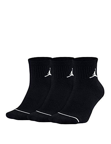 Nike U J Everyday MAX ANKL 3PR Socks, Black, XL