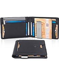 bf8966303b857 TRAVANDO ® Geldbeutel mit Geldklammer Stockholm - TÜV geprüft - Slim Design  - 8 Kartenfächer -