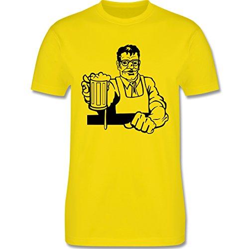 Küche - Barkeeper - Herren Premium T-Shirt Lemon Gelb