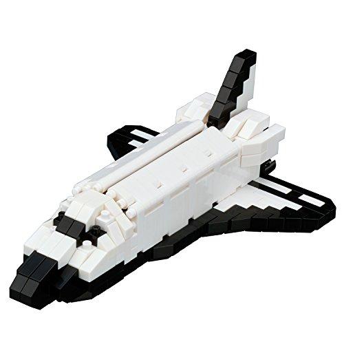 Unbekannt nanoblock NBH-128 - Space Shuttle Orbiter, Minibaustein 3D-Puzzle, Sights to See Serie, 370 Teile, Schwierigkeitsstufe 3, schwer - Shuttle-haken