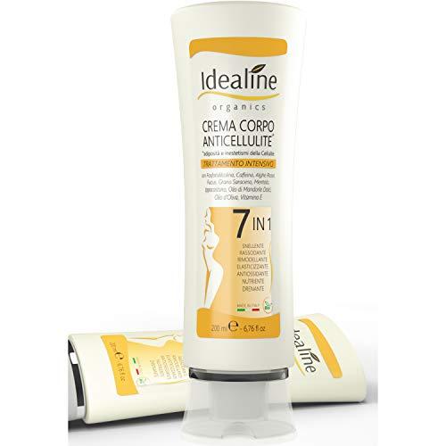 idealine crema anticellulite professionale 7 in 1 - crema rassodante corpo e crema snellente pancia e fianchi contro cellulite e smagliature 200 ml