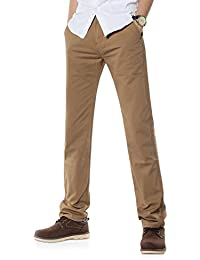 Demon&Hunter 900X Straight-Fit Series Hombre Chinos Pantalones Recto