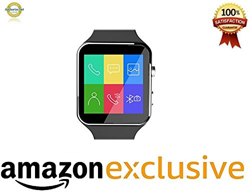 Mobile link Micromax Joy X1800 Compatible X6 Smart Watch Wearable Devices With Camera Support SIM Card With Camera Support SIM Card & Improved display  available at amazon for Rs.2899