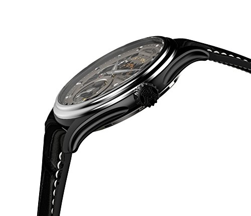 Armand Nicolet Men's Mechanical Watch with Grey Dial Analogue Display and Black Leather Strap A750ANA-GR-P713NR2