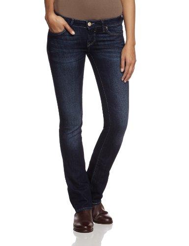 Mavi Damen Straight Leg Jeans OLIVIA, Gr. W28/L34, Blau (16354; rinse brushed boho) (Leg-jeans Low-rise-skinny)
