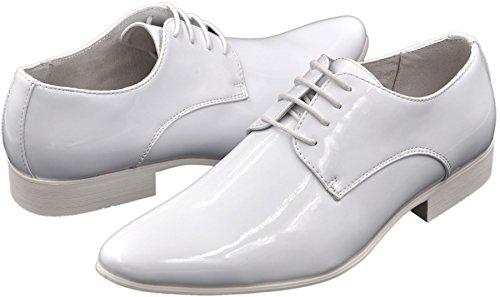 Galax 2019, Chaussures Homme - Derbies à Lacets, Doublure Cuir blanc verni 2019