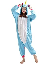 YARBAR Pyjamas Adulte Unisexe Animaux Cosplay Costume Kigurumi Halloween Noel Party Soirée de Déguisement