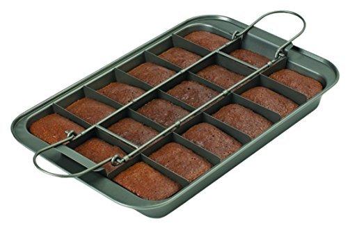 Chicago Metallic 26740 Slice Solutions Brownie Pan, 9 x 13, Silver by CHICAGO METALLIC - Chicago Metallic Brownie Pan