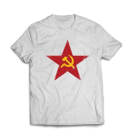 Lepni.me Camisetas Hombre URSS СССР La Hoz y el Martillo, símbolo del proletariado socialista Large...