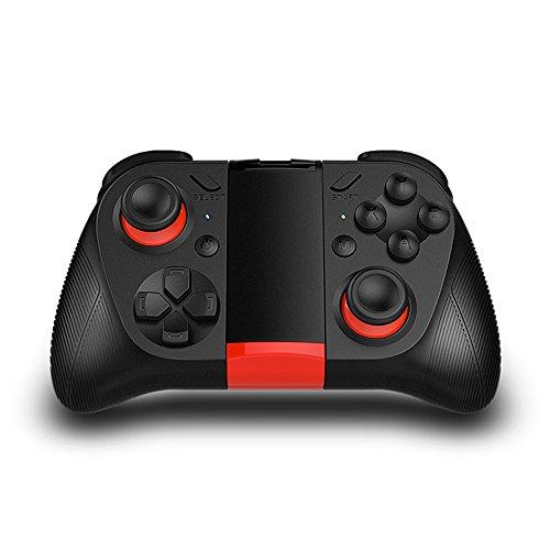 TNP Bluetooth Game-Controller Wireless Gamepad Joystick Joystick mit Handy-Clip für Android Samsung S7 S6 Edge Note 5 Nexus LG Smartphone Tablet Emulator Gear VR Windows PC via BT HID Protokoll - Tablet-tv-adapter Galaxy Samsung