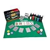 Relaxdays Set da Poker Completo, 200 Fiches, Tappetino, 54 Carte, Dealer, Bottoni Bui, con Cofanetto, Multicolore, 10022799