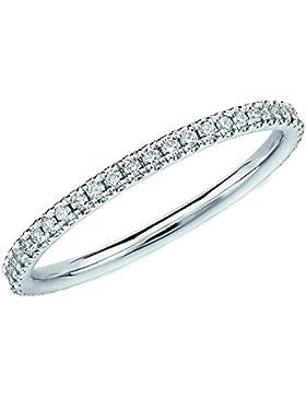 Memory Ring mit 0,40Karat besetzt, schmaler Weißgoldring