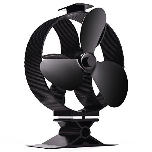 Ofen Ventilator Hitze Betriebener Kamin Ventilator 3 Ventilatorblätter Ventilator Für Holzöfen Kamin Öfen