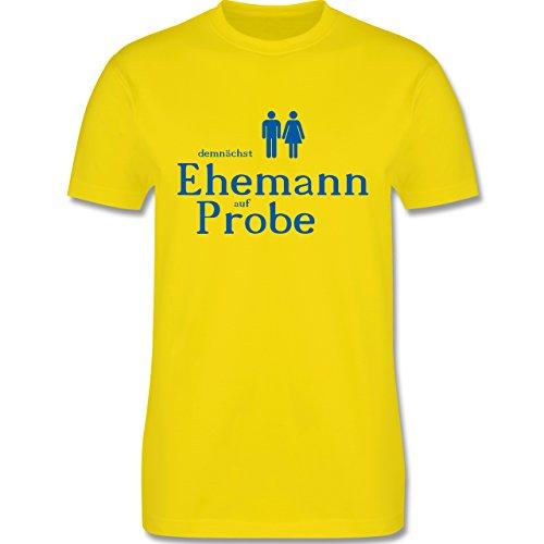 JGA Junggesellenabschied - Ehemann auf Probe - Herren Premium T-Shirt Lemon Gelb