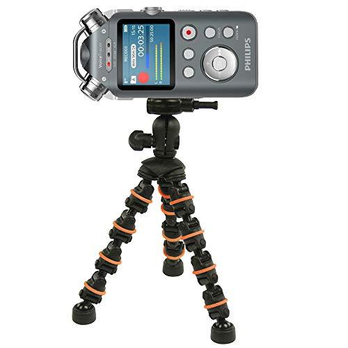 TronicXL Profi TRIPOD 18 cm treppiede flessibile dittafono registratore audio 1/4 pollici compatibile con Roland Philips Tascam Sony Olympus Zoom H4n Pro H5 H6 mobile Recorder H2n supporto