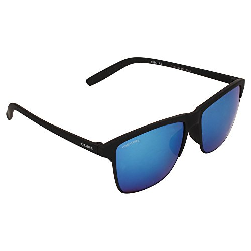 Creature Wayfarer Uv Protected Sunglasses (Lens-Blue||Frame-Black||DOIT-004)