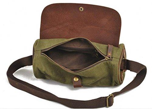 Barrel Lixmee Fashion-Borsa a spalla in pelle Verde (verde)