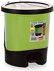 Aristo Unique Modern Plastic Pedal Dustbin 8 LTR (Green)