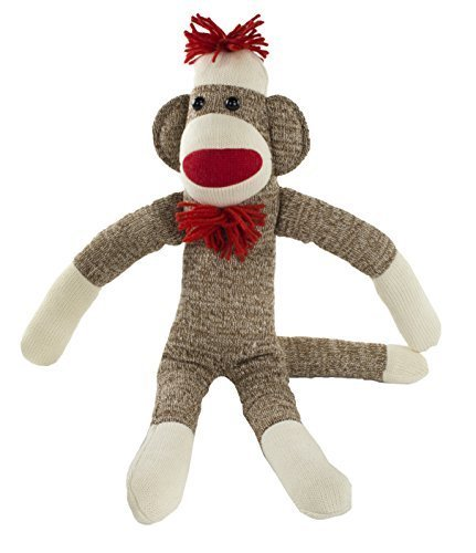 Maven: Adorable Sock Monkey with Classic Brown Color, Red Lips, Pom Pom Hat, Bowtie, and White Socks - No Rough Edges - Perfect for Snuggling - Great Gift for Ages 3 and Up - 20 Inches Long by Maven (Ein Sock Monkey)