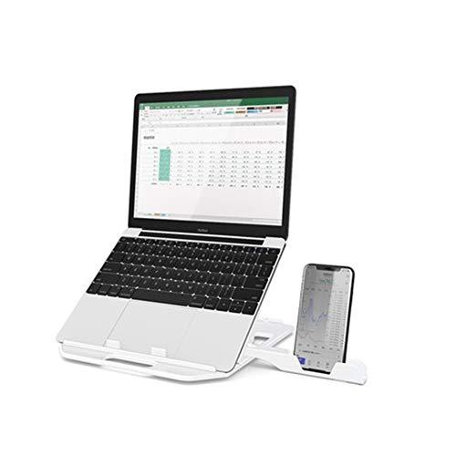 DNSK10 Notebook Ständer Halswirbel Desktop Büro Computer Lift Faule Tragbare Halterung Kühler Vertikales Regal Erhöhen Pad Basis Folding Mit Handy Halterung